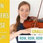 How to Play Row Row Row Your Boat on the Violin Beginner Violin Song Lesson 20