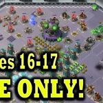 MEGA CRAB with ONLY Gun Boat Energy Stages 16-17 Boom Beach