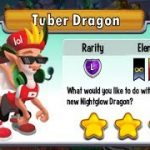 Dragon City – Tuber Dragon + Fighting Boss Art Dragon 2017