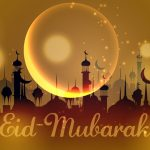 154 Make Golden City Background Eid Mubarak in Adobe Illustrator