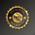 173 Create Premium Quality Golden Insignia 03 in Adobe Illustrator