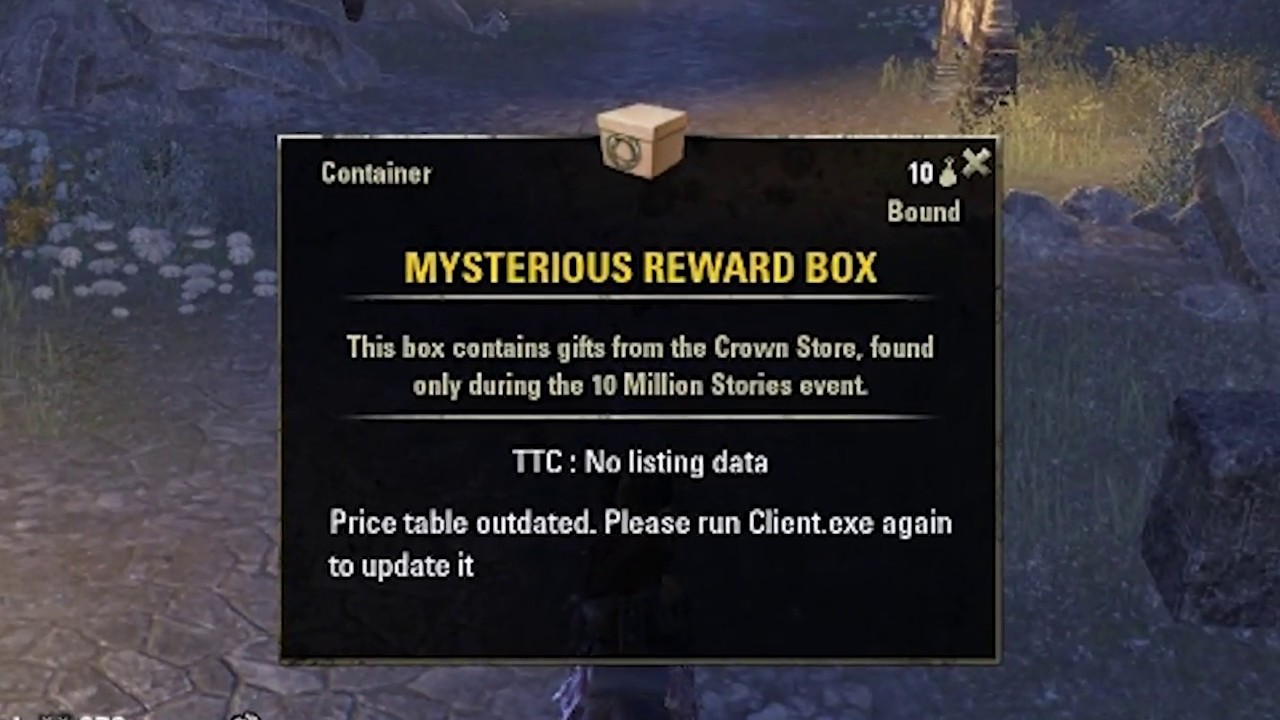 eso  10millionstories event opening 10 mysterious reward
