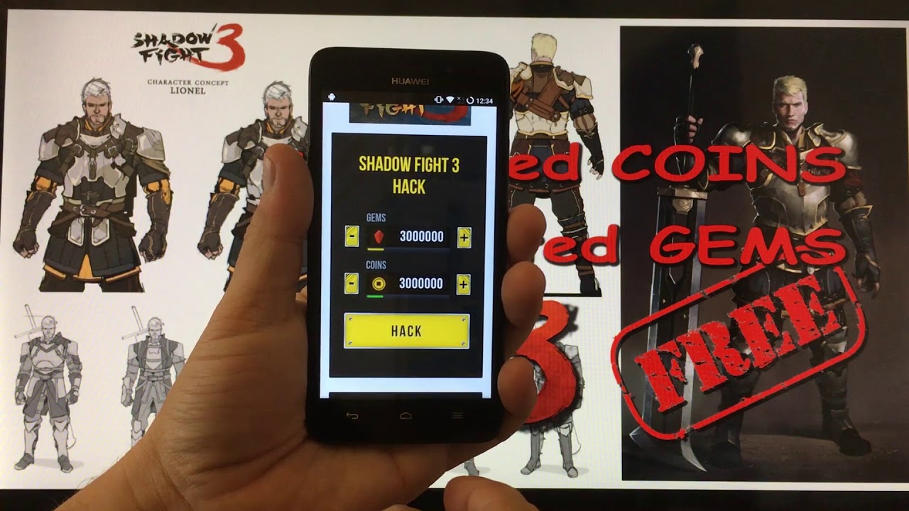 shadow fight 3 gems and coins hack