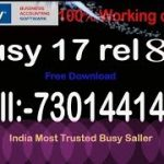 Busy 17 Rel ALL Version Update Crack Download with GST .Call or Whatsapp-7301441403