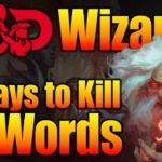DD Wizard 5E – 3 Deadly Spells Verbal Components Only