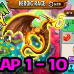 Dragon City: High Eternal Dragon Heroic Race Lap 1 – 15 🔥COMPLETED🏁 GUIDE 2019
