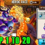 Dragon City High Fallen Dragon Heroic Race Lap 1 – 20 completed 2019