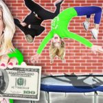 BEST Flip Wins 10,000 (Ninja Training for BATTLE ROYALE w Hacker) Rebecca Zamolo