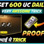 PUBG MOBILE NEW TRICK TO GET 600 UC CASH DAILY FOR FREE GET FREE UC IN PUBG MOBILE WITH PROOF