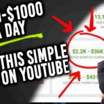 How To Make 500 – 1000 A Day On Youtube (For Free) 2020