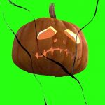 Scary pumpkin breaking screen effects Filmora Free Green Screen Footage