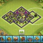 Clash of Clans Town Hall 8 Trophy Master League Base Perfectly Balanced Hybrid Base TH8 TH 8