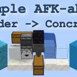 Minecraft 1.12: Simple AFK-able Powder to Concrete Converter