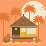 73 How to Create a Tropical Bungalow on a Palm Beach in Adobe Illustrator