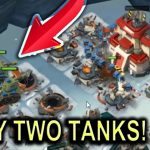 ONLY Two Tanks VS NPC Bases OVERPOWERED Boom Beach