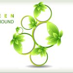 143 Make Green Leaves Ecology Background in Adobe Illustrator