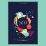 168 Abstract Brochure with Polygonal Shapes in Adobe Illustrator