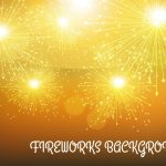 171 Golden Background with Fireworks in Adobe Illustrator