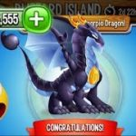 Dragon City – Zodiac Scorpio Dragon Blizzard Island Completed 2017