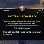 ESO: 10MillionStories event opening 10 Mysterious Reward Box (Day 1)