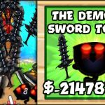 THE SCARIEST TOWER EVER THE DEMONIC SWORD TOWER Bloons TD Battles HackMod (BTD Battles)
