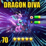 DRAGON DIVA (150 GEMS SPEND) Level 70 (⭐️⭐️⭐️⭐️⭐️) Dragon City Splonter