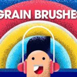 Grain Brushes illustrator FREE DOWNLOAD Illustrator Tutorial