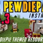 How to get PewDiePack in Minecraft 1.14.3 – download install The PewDiePack 1.14.3 resource pack