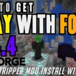 How to get X ray with Forge in Minecraft 1.14.4 – download install World Stripper 1.14.4