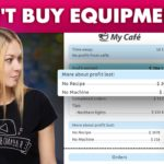 My Cafe Guide: How To Buy Equipment At New Levels