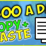 Copy and Paste Ads to Earn 500 DAILY – Make Money Online