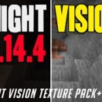 How to get Fullbright Texture Pack in Minecraft 1.14.4 – download install Night Vision texture pack
