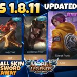 IMLS Update 1.8.11 Unlock All Skin Mobile Legends 2020 + Diamond Giveaway Winner