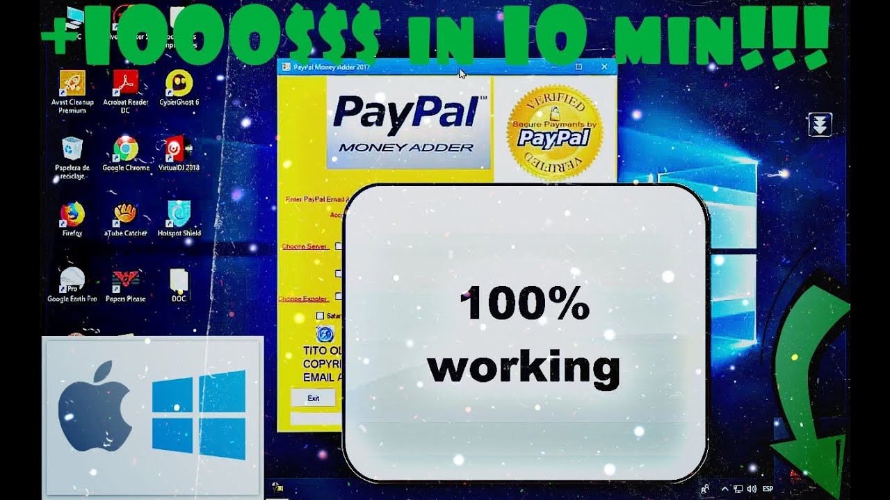 New Software Paypal Money Adder 2020 Working 100 Mac Windows Android Iphone Download
