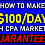 😱CPA Marketing + Facebook FREE Traffic = 100DAY (GUARANTEED)