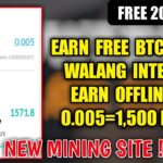 Free 2000 Ghs New CloudMining Earn 0.005=1,500Peso Legit and Easy To Use