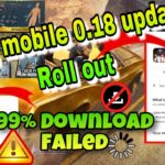 DOWNLOAD PUBG MOBILE 0.18.0 UPDATE ISSUES Solve with Downloading fail in IOS and All Android devices