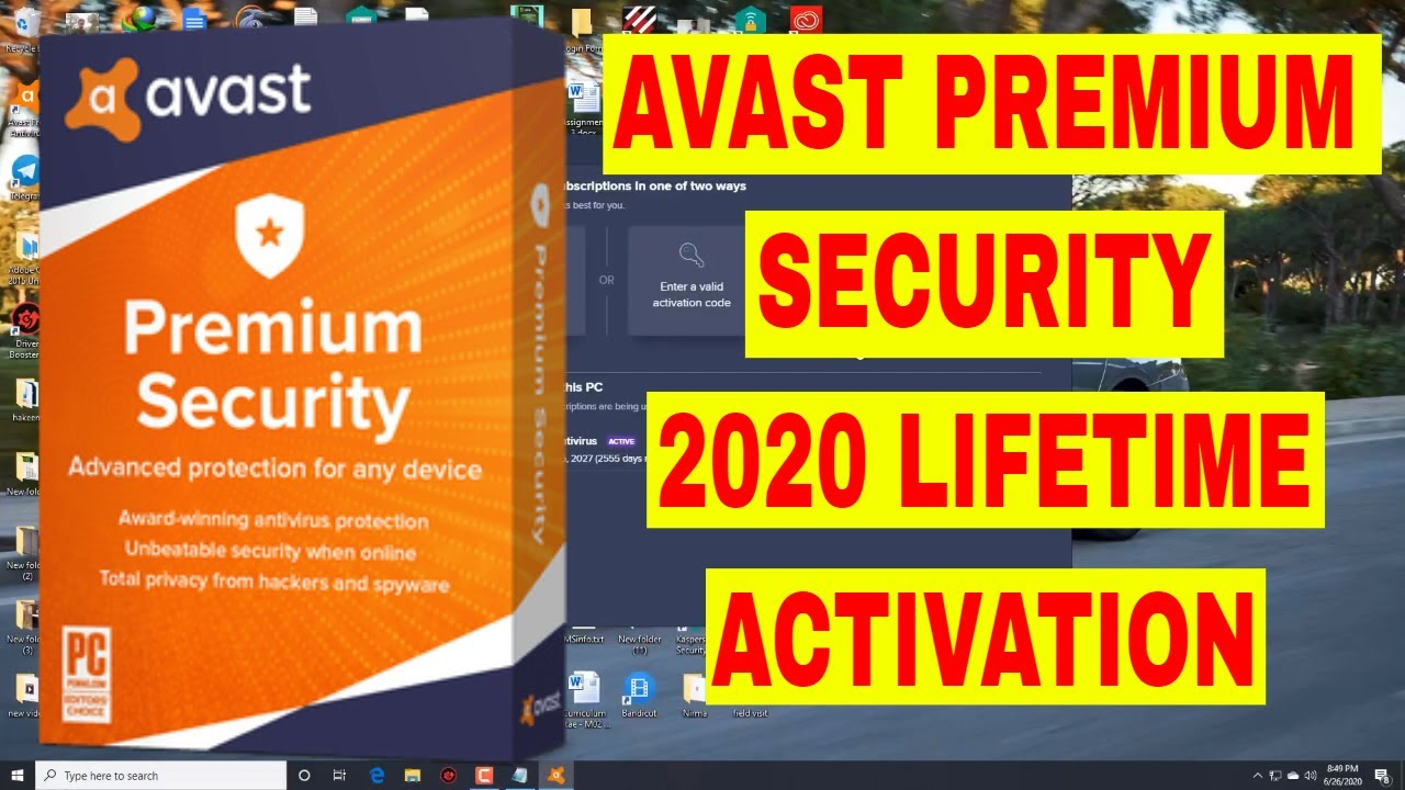 Avast Premium Security 2020 LifeTime Activation License ...