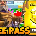 How to get the Gold Pass FREE 100 real July season Gladiator skin Clash Of Clans