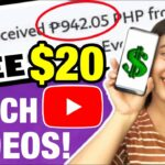 EARN FREE 20 P1000 WATCHING YOUTUBE VIDEOS w PROOF: KUMITA GAMIT ANG CELLPHONE NO NEED INVITE