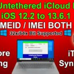 Free Untethered iCloud Bypass iOS1213 Windows With iTunes PatchBypass 12.2 to 13.613.6.112.4.8