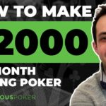 How to Make 2,000 Per Month Playing Poker