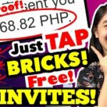 NO INVITES: I EARNED 10 P500 TAPPING BRICKS FREE LEGIT NEW APP EASY MONEY MAKE MONEY ONLINE