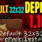 How to get Default 32×32 Textures in Minecraft 1.16.3 – download install Depixel 32×32 1.16.3