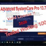 IObit Advanced Systemcare 13.7 pro license key 2020 Tested work with proof