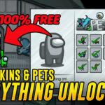 Among Us how to get all items for free skins, hats and pets Unlock everything with this tool