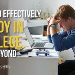 How to Effectively Study in College and Beyond – Phi Theta Kappa