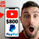 Earn 800 Watching YouTube Videos (FREE PayPal Money)