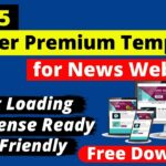 Top 5 Best Premium Blogger Templates for News Website (FREE Download) Premium Blogger Themes
