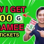 How to EARN FREE 100 in GAMEE APP +500 FREE TICKETS Legit Paying App